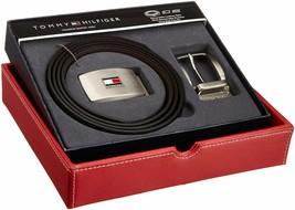 Tommy Hilfiger Men's Set Reversible Leather Belt Removable Buckle 11TL08X007 image 1