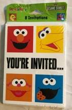 New 8 SESAME STREET Party Invitations. Elmo Cookie Monster Big Bird Zoe - $4.99