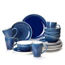 Palma 16 Piece Dinnerware Set in Blue by Euro Ceramica - $89.05