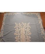 Exquisite Vintage Madeira Linen Cutwork Floral Tablecloth 8 Napkins Set ... - $325.00