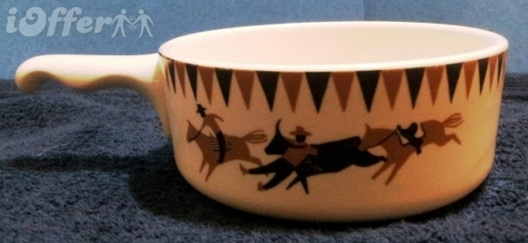 """HOMER LAUGHLIN FOR LEE BATES- RODEO CHILI SOUP BOWL  5"""""""