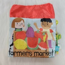 Manhattan Toys Cloth Farmers Market Numbers Baby Book Crinkles Rattle B84 - $9.97