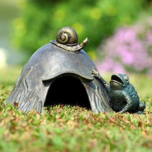 SPI Home Aluminum Toad House with Snail and Toad Figurine - $92.57