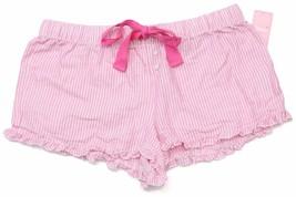 Jenni Striped Boxer Shorts Pink Stripe S NWT - $14.84