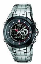 Casio - EFA119BK-1AV - Men's Ana-Digi Edifice Stainless Steel Watch - $65.29