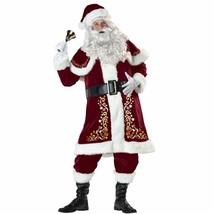 Uheng Men's Deluxe Santa Suit 8PCS Christmas Velvet Adult Santa Claus   ... - $88.10