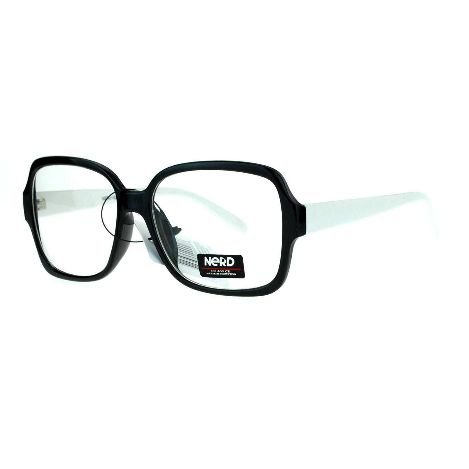 Nerd Eyewear Clear Lens Glasses Square Frame Hipster Fashion Eyeglasses