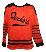 Any Name Number Philadelphia Quakers Retro Hockey Jersey Orange Any Size image 1