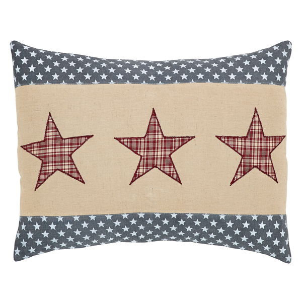 "Independence Star Pillow - 14""x18"" - VHC Brands - Country Farmhouse Style"