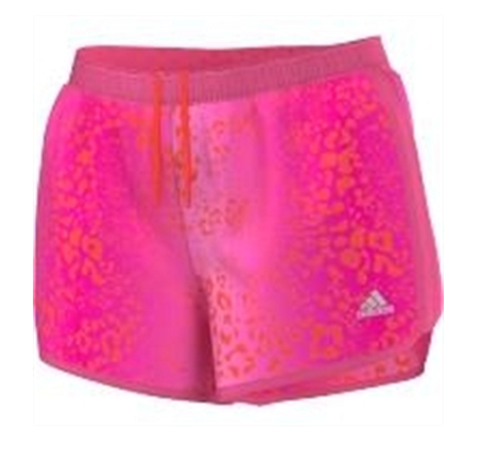 Primary image for New Adidas MILE 10 Pink Red Design All Sports Design Women's Shorts Sz L
