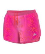 New Adidas MILE 10 Pink Red Design All Sports Design Women's Shorts Sz L - $20.00