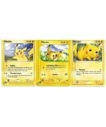 3 Pikachu Pokemon Card Lot - $6.43