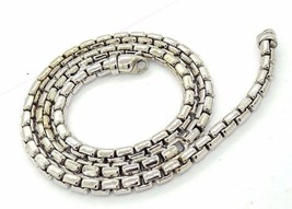 14K White Gold Chain Box Link Designed by Treemme in Tuscany Italy Heavy... - $1,188.00