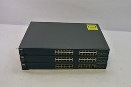 Cisco Catalyst WS-C3560-24PS-S 3560 Series 10/100 PoE Managed Switch, Lot 3 - $99.99