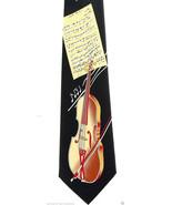 Viola Concerto Men's Necktie Musical Instrument Strings Music Black Neck... - $15.79