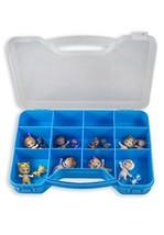 Toozie Case Blue Toy Storage Box - Portable Plastic Organizer Carrying C... - $18.44
