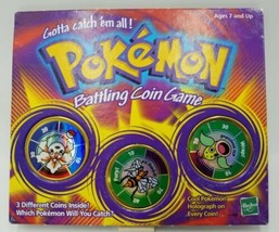 Pokemon Battling Coin Game Hasbro 1999 Includes Goldeen Beedrill and Wee... - $14.99