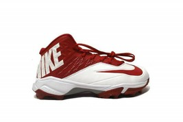 Nike Zoom Code Elite 3/4 TD Football Cleats Red/White SIZE 18 NEW FREE S... - $33.43