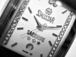 NEW Swistar 559582M Men's Precision Quartz White Dial and  Silver Tone Watch - £43.07 GBP