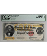 1922 $100 Gold Certificate Fr#1215 PCGS Currency Choice New 63PPQ Banknote - £7,195.74 GBP