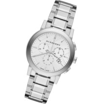 NEW Burberry BU9750 Silver Steel Bracelet Anti-Reflective Sapphire Unisex Watch - $334.62