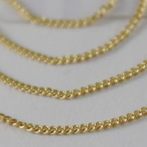 18K YELLOW GOLD CHAIN 17.7 MINI CUBAN CURB GOURMETTE LINK 1 MM, MADE IN ITALY image 3