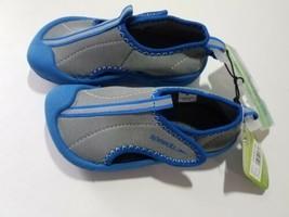 Speedo Toddler Boys Hybrid Water Shoes Hook & Loop Closure - Gray & Blue... - $15.99
