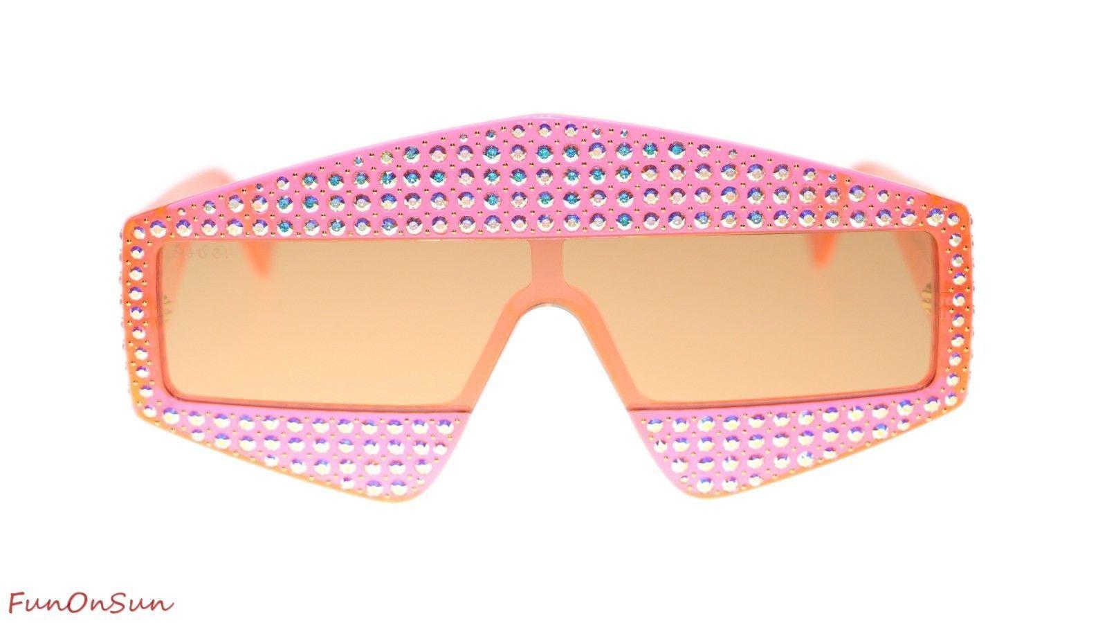 f821a1476b0 S l1600. S l1600. Previous. Gucci Women Rectangular Sunglasses GG0357S 002  Orange ...