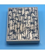 "Large Bamboo Forest Background 5x4"" Wood Mounted Rubber Stamp by Stamp C... - $14.85"