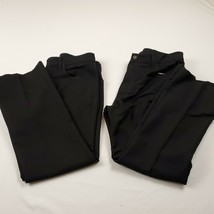 Lot of 2 Dark Black Levis 517 Boot Cut Polyester Pants Size 36 x 29 - $27.74