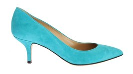 Blue Suede Classic Heels Pumps - $325.00