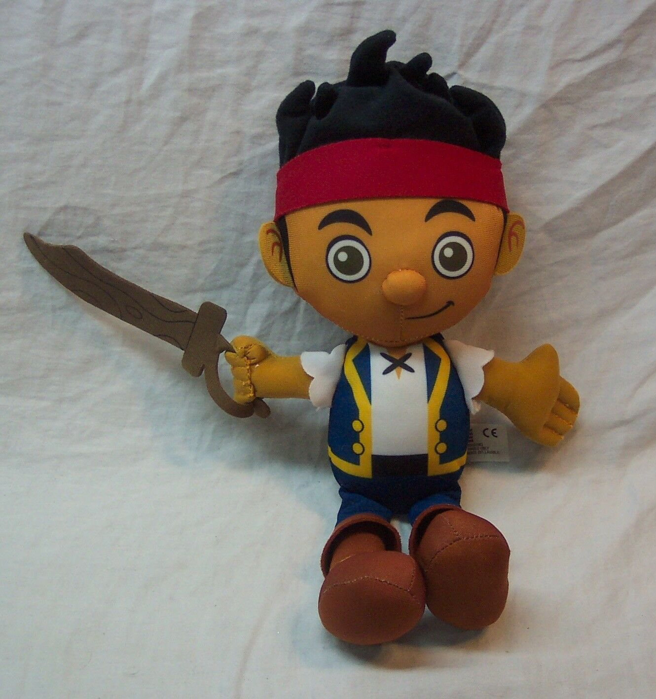 """Jake and the Neverland Pirates TALKING JAKE PIRATE 13"""" Plush Stuffed Toy"""