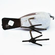 Handmade Serpentine Stone Recycled Metal African Stork Bird Sculpture Zimbabwe image 5