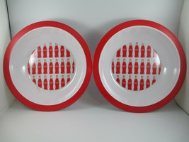 Coca-Cola Set of 2 Melamine 12 inch Party Serving Bowls Bottle Repeat Pa... - $11.88