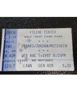 Michael Franks/Stanley Jordan/Bobby McFerrin Wolf Trap ticket stub - $9.49