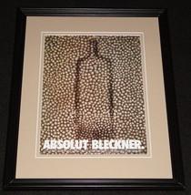 1998 Absolut Bleckner Vodka Framed 11x14 ORIGINAL Advertisement - $34.64