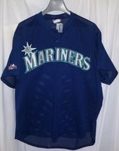 Vintage Seattle Mariners Majestic Sewn BP Baseball MLB Jersey Sz XL - $49.49