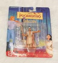 Disney Pocahontas Chief Powhatan Collectible Mattel Figure NIP Vintage 1990's - $3.67