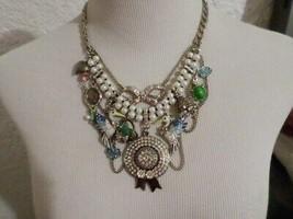 Betsey Johnson Vintage Multi Strand Charms Necklace - $90.00