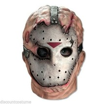 Official Licensed Jason Friday The 13TH Vinyl Mask Adult Halloween Accessory - $21.18