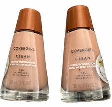 NEW COVERGIRL Clean liquid foundation #150 Creamy beige lot of 2 full size  - $13.98