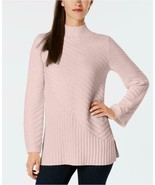 $69.50 Charter Club Mixed-Stitch Mock-Neck Sweater, Ballet Ribbon (Dirty... - $14.50