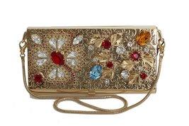 Dolce & Gabbana Gold Brass Crystal Clutch Bag - $15.868,33 MXN