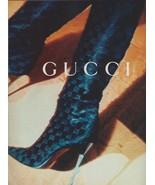1995 Gucci Logo Boots Sexy Stiletto High Heel Heels Vintage Print Ad 1990s - $6.25