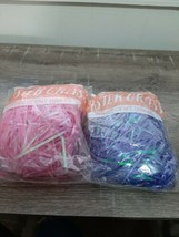 (2)  Easter Basket Grass Iridescent Purple & Pink. New  - $8.77