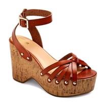 1d93fded7e8 Mossimo Sandals 11 Cognac Erie Platform Wedge Boho -  18.69