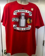 NHL Chicago Blackhawks 2013 Stanley Cup Champions T-Shirt 2XL NWT Official - $19.98
