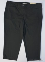 Ann Taylor LOFT Stretch Cotton Black Cropped Pant Women 10P 10 PETITE Ma... - $21.56