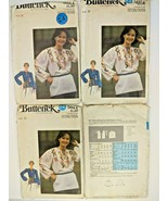 Vintage Butterick Sewing Pattern 5014 Womens Retro Blouse Shaped Necklin... - $9.85