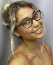 New BURBERRY B F2221 7535 53mm Matte Brown Cats Eye Women's Eyeglasses F... - $129.99